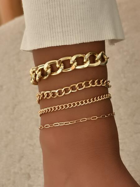 4pcs Gold Chain Bracelet