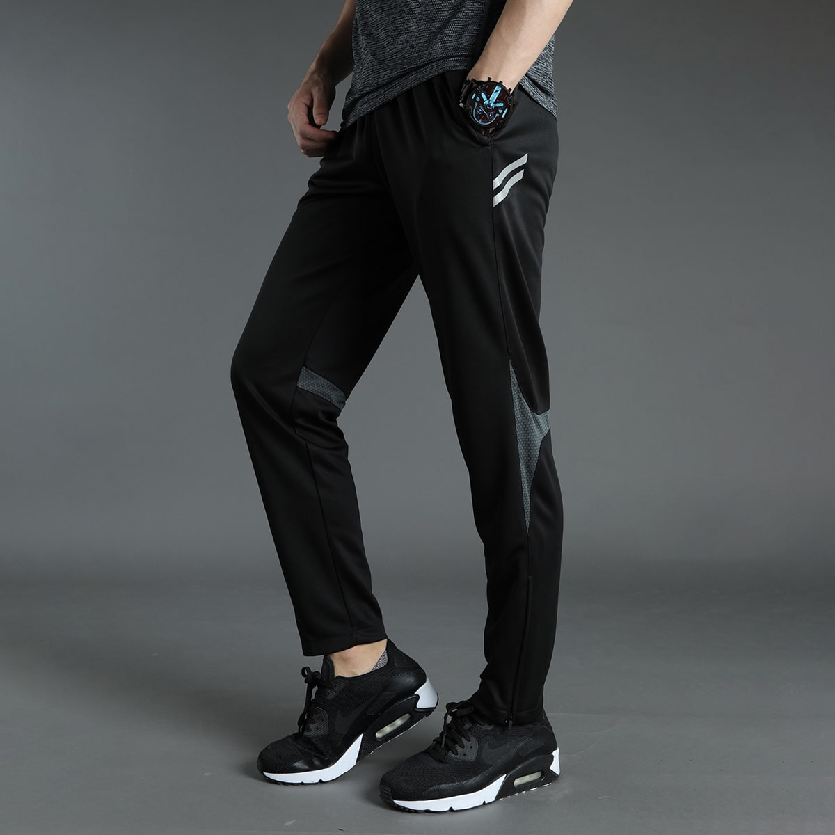 Мужские спортивные брюки с молнией