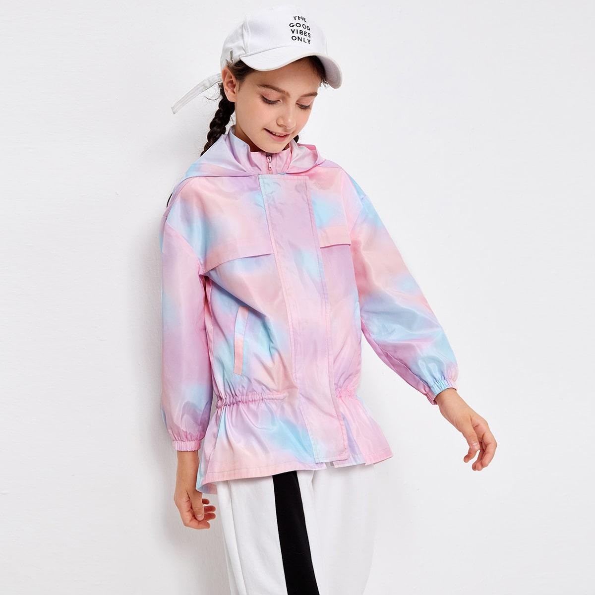 Куртка с принтом тай дай для девочек от SHEIN