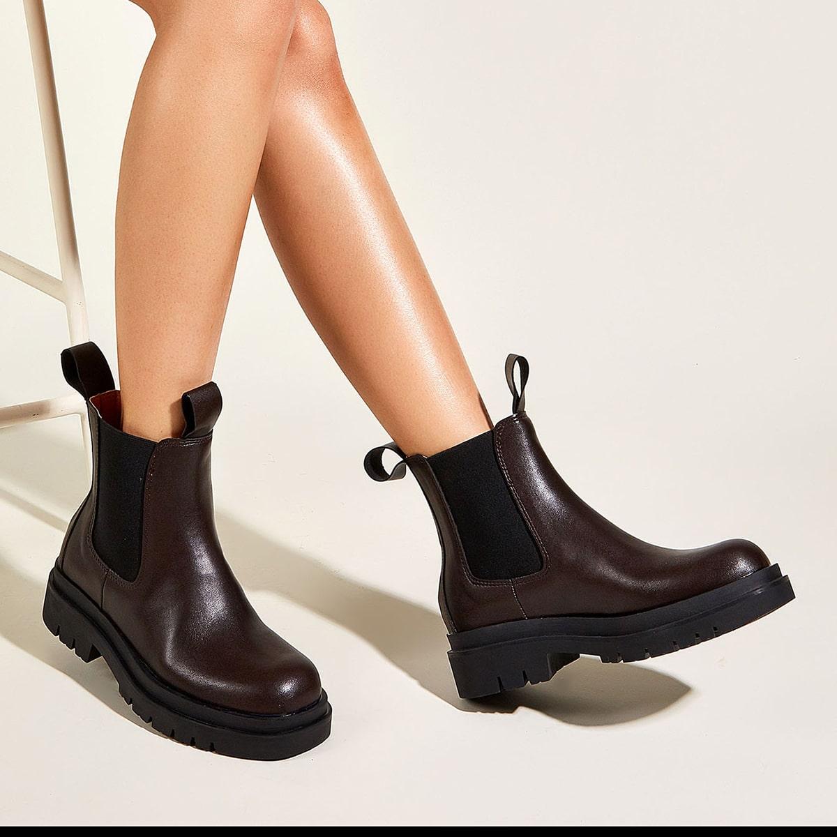 SHEIN / Minimalistischer Chelsea Stiefel
