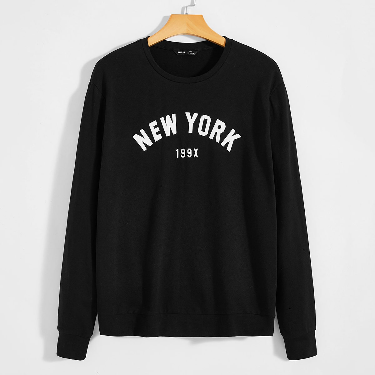 Мужской пуловер с текстовым принтом от SHEIN