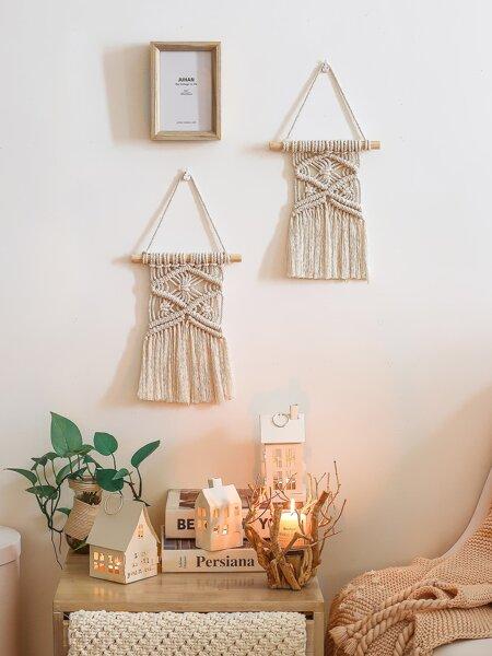 1pc Woven Boho Macrame Wall Hanging