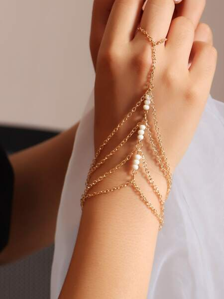 Beaded Layered Mittens Bracelet
