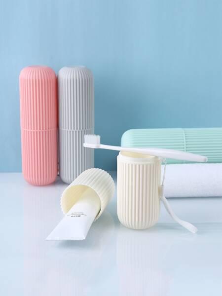 1pc Random Color Plastic Toothbrush Box