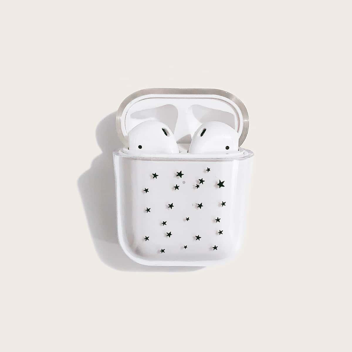 SHEIN / 1 Stück Transparente Airpods Hülle mit Stern Muster