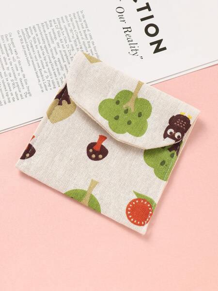Tree Print Sanitary Napkin Storage Bag