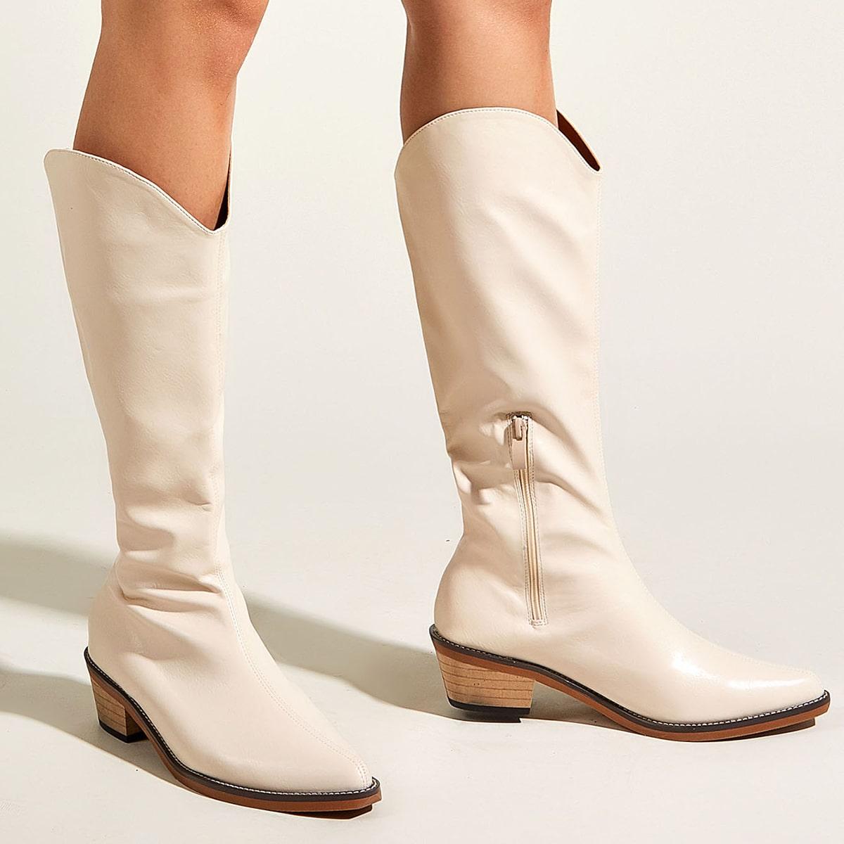 SHEIN / Minimalistischer Stiefel mit seitlichem Reißverschluss