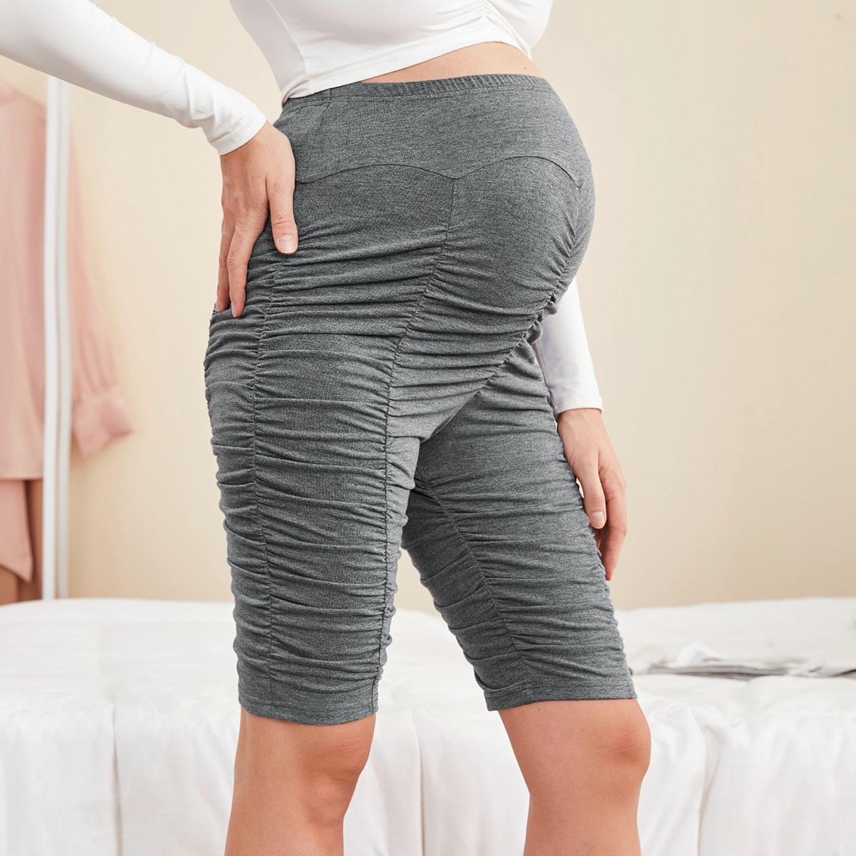 Байкерские шорты для беременных с эластичной талией от SHEIN