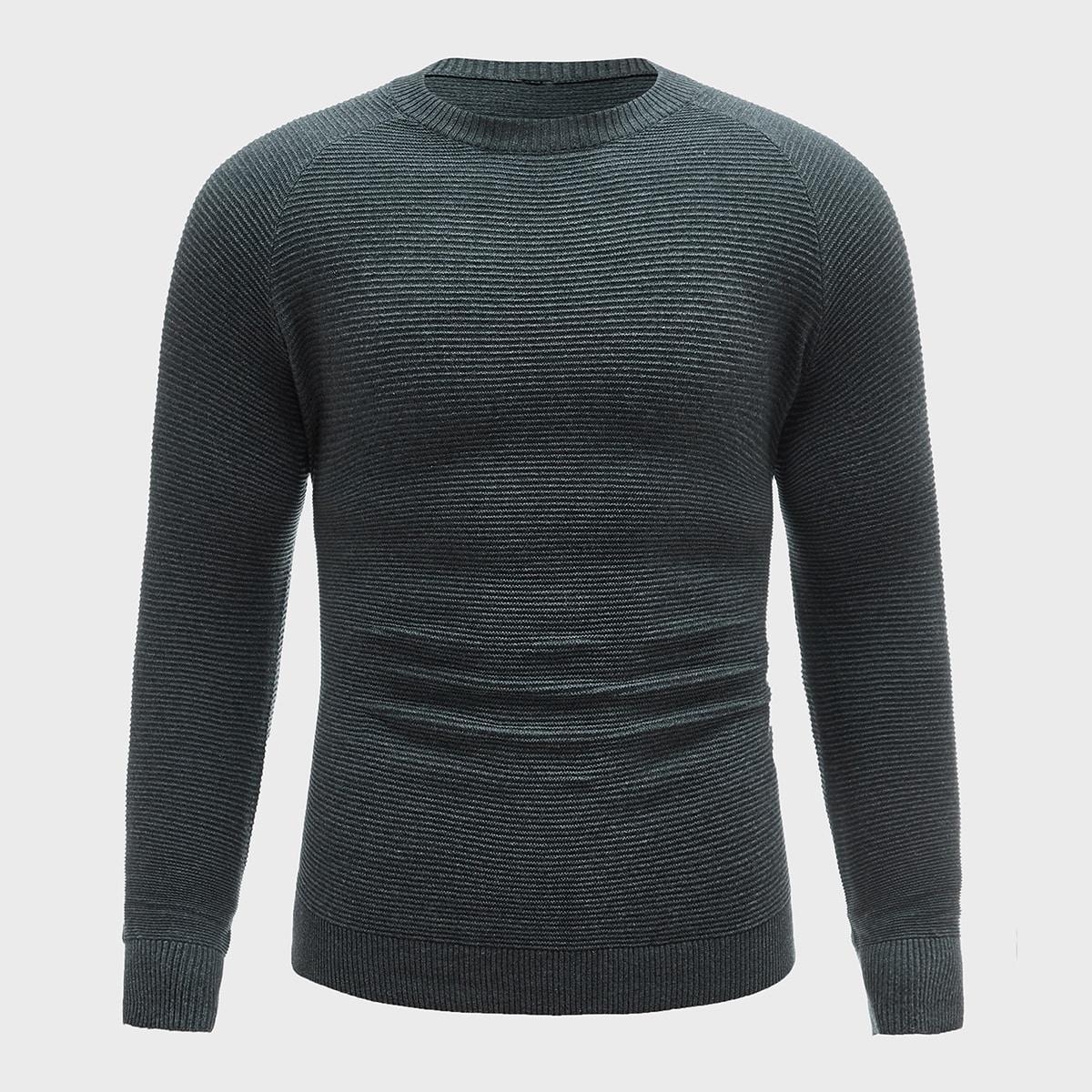 Мужской свитер с рукавом регланом