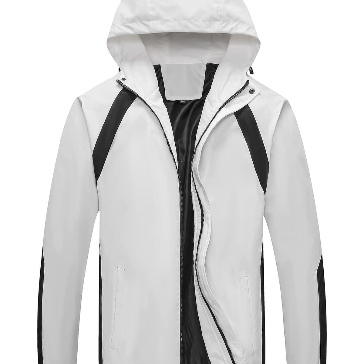 Мужская спортивная куртка с молнией и капюшоном