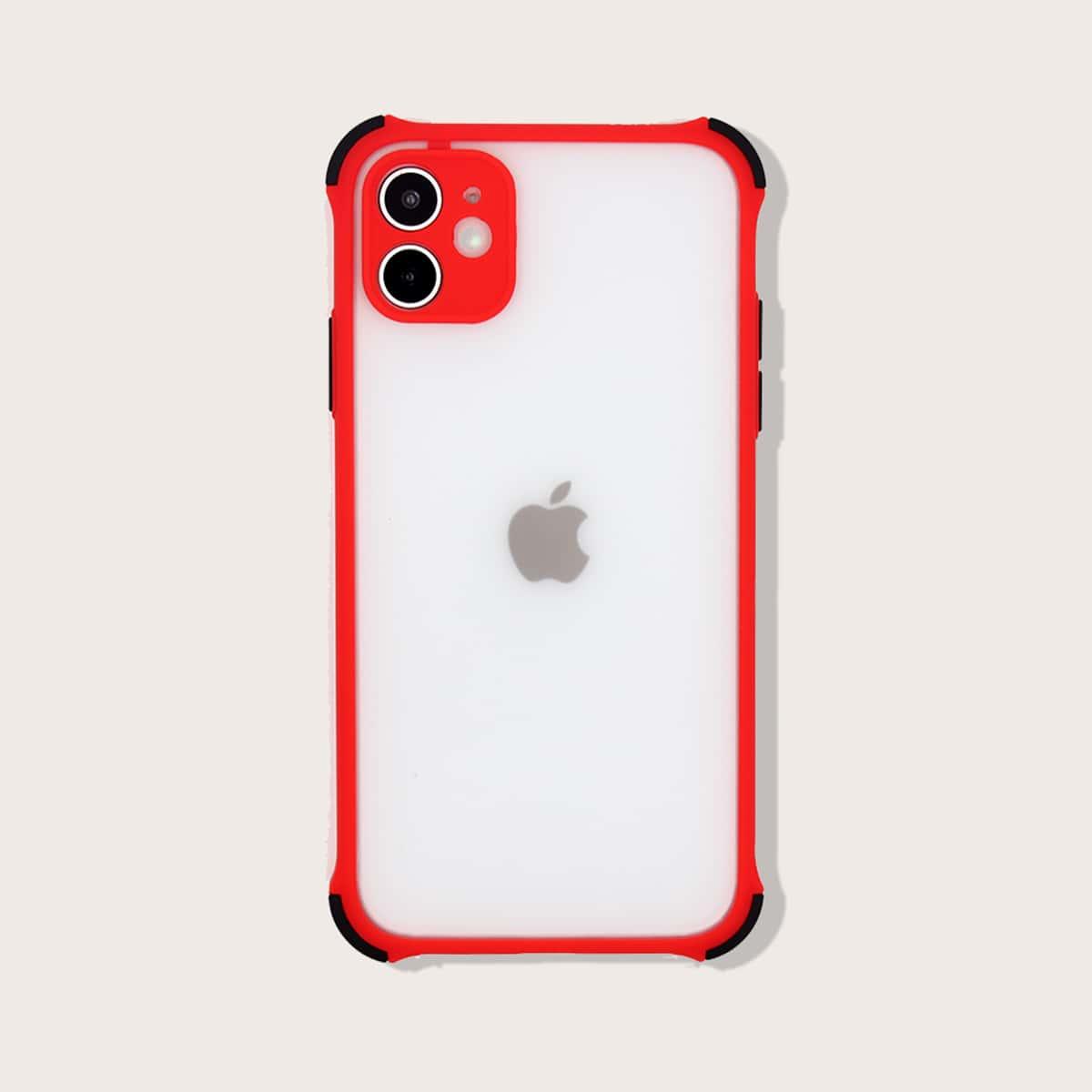 1шт чехол для iPhone с контрастной рамкой фото