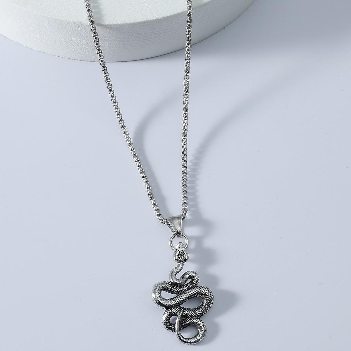 Мужское ожерелье с декором змеи от SHEIN