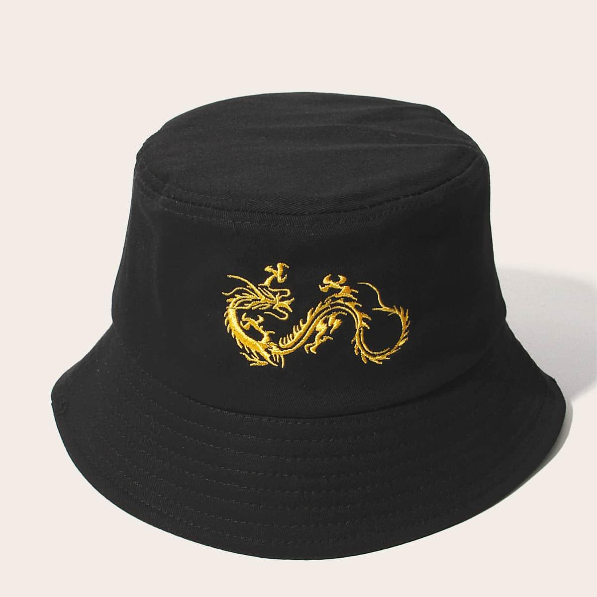 Мужская шляпа с узором китайского дракона от SHEIN
