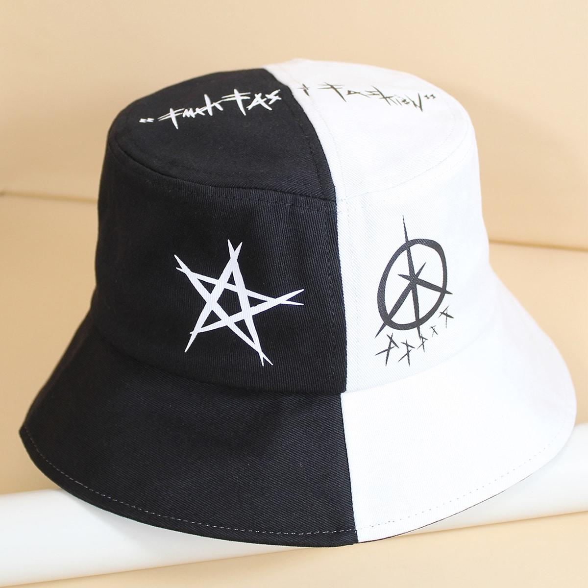 Мужская шляпа с рисунком звезды от SHEIN