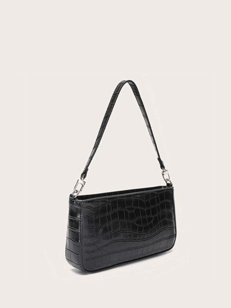 Crocodile Baguette Bag