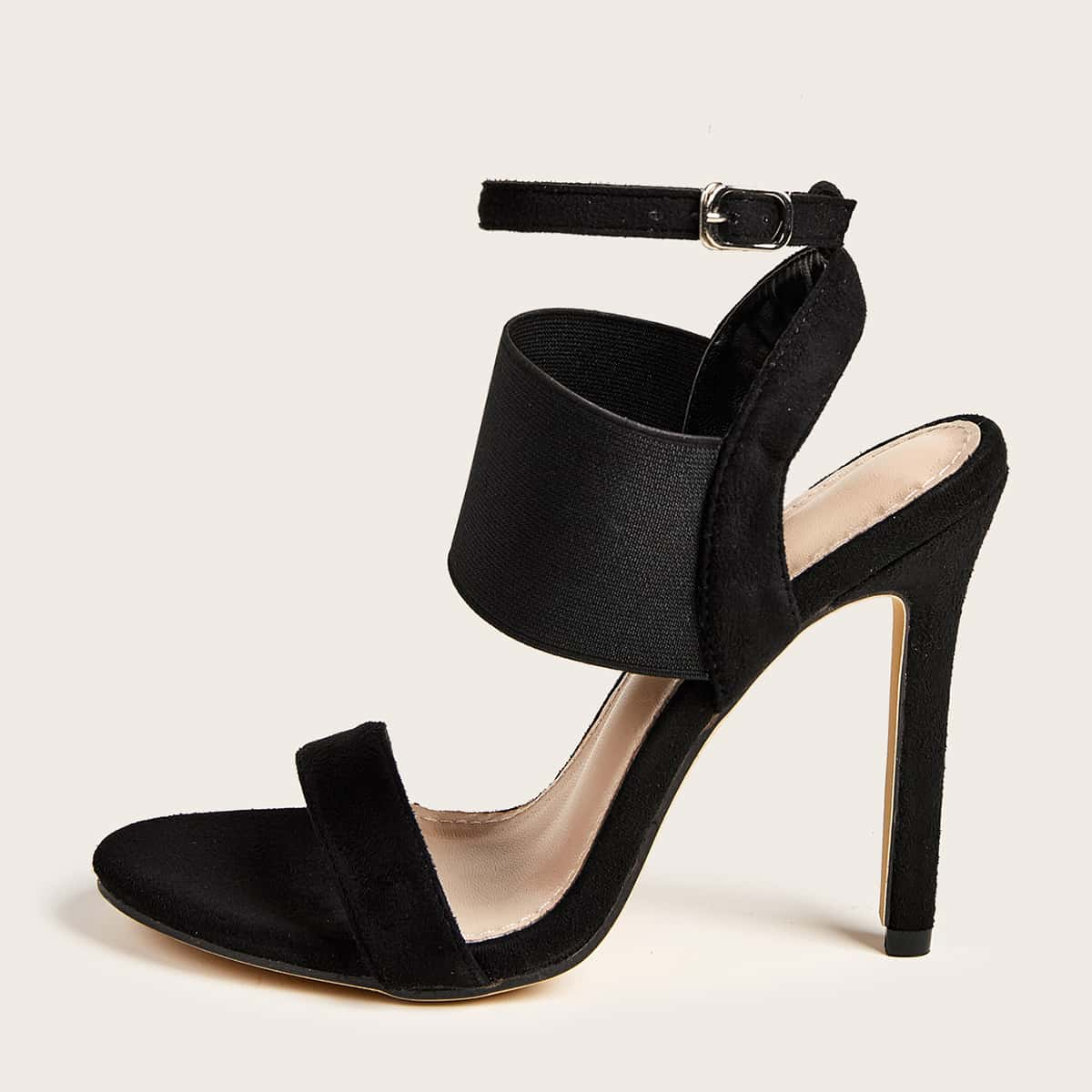 SHEIN / Minimalist Ankle Strap Stiletto Heeled Sandals