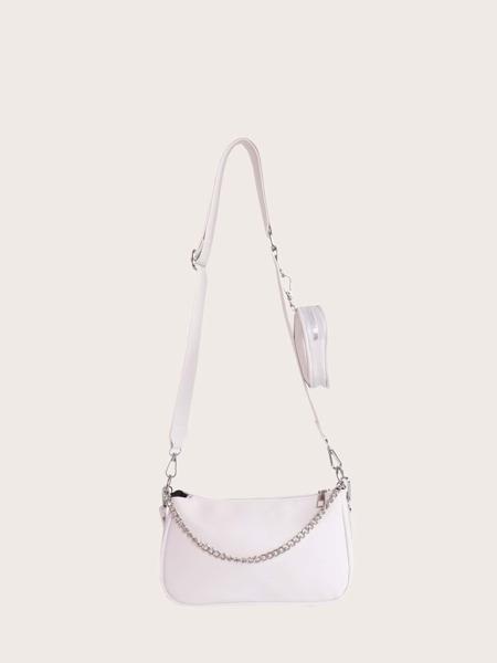 Minimalist Shoulder Bag With Coin Case