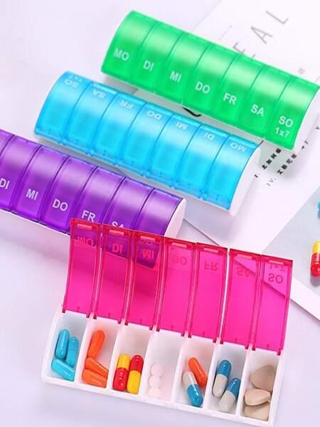 1pc Random Color 7 Grid Pill Box