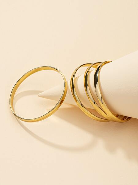 4pcs Simple Metal Bracelet