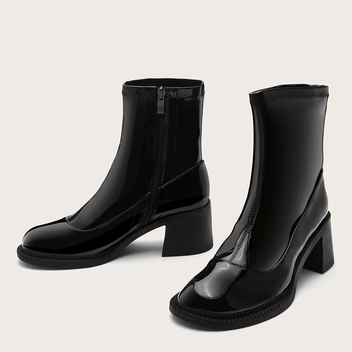 SHEIN / Minimalistische Stiefel mit seitlichem Reißverschluss