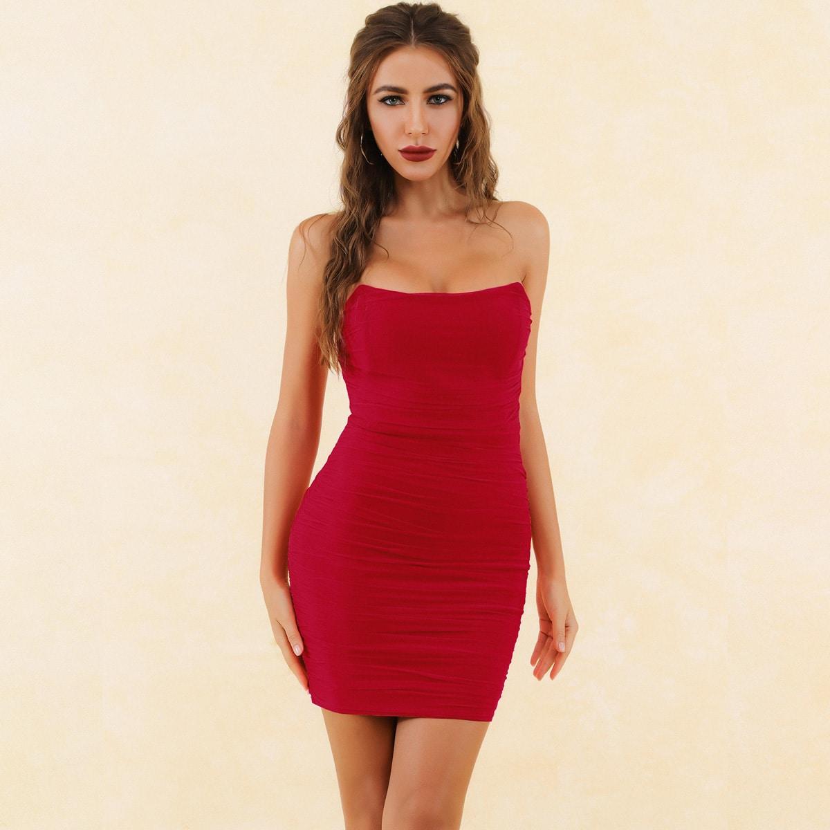 Lucra Сетчатое платье без бретелек