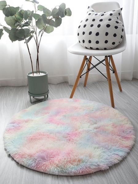 Tie Dye Pattern Round Carpet