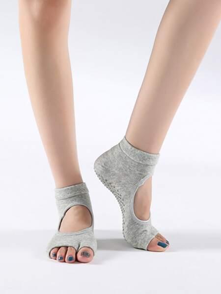 1pair Yoga Open Toe Socks