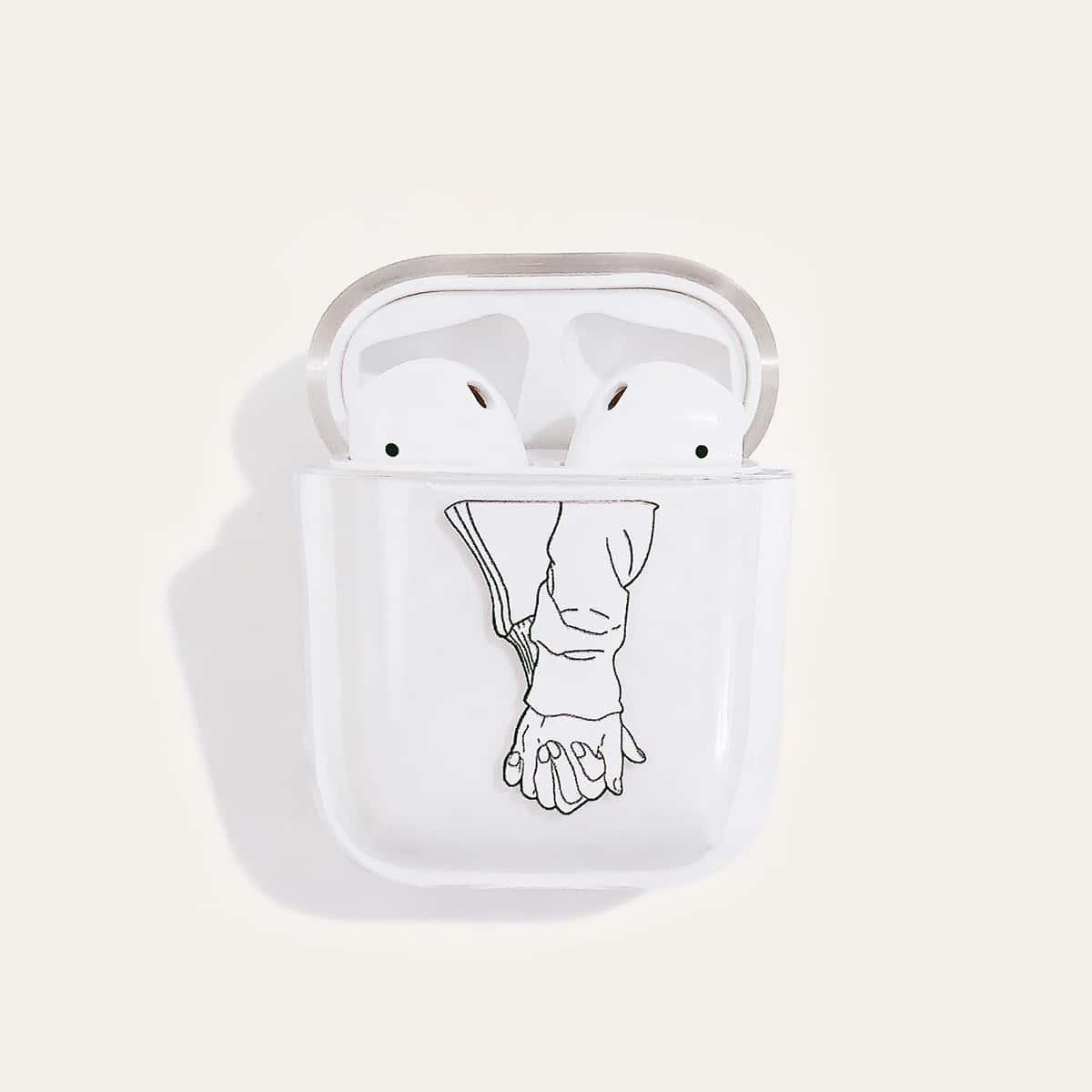 SHEIN / 1 Stück AirPods Schutzhülle mit Hand Muster