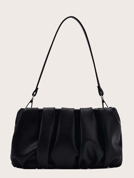 Ruched Decor Shoulder Bag