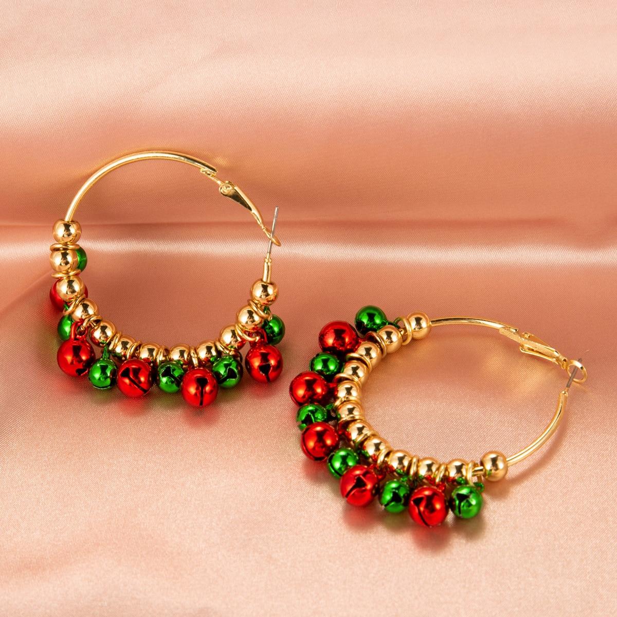SHEIN / Kreolen mit Weihnachten Glocken Dekor