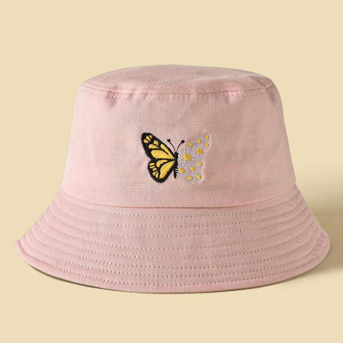 Шляпа с вышивкой бабочки фото