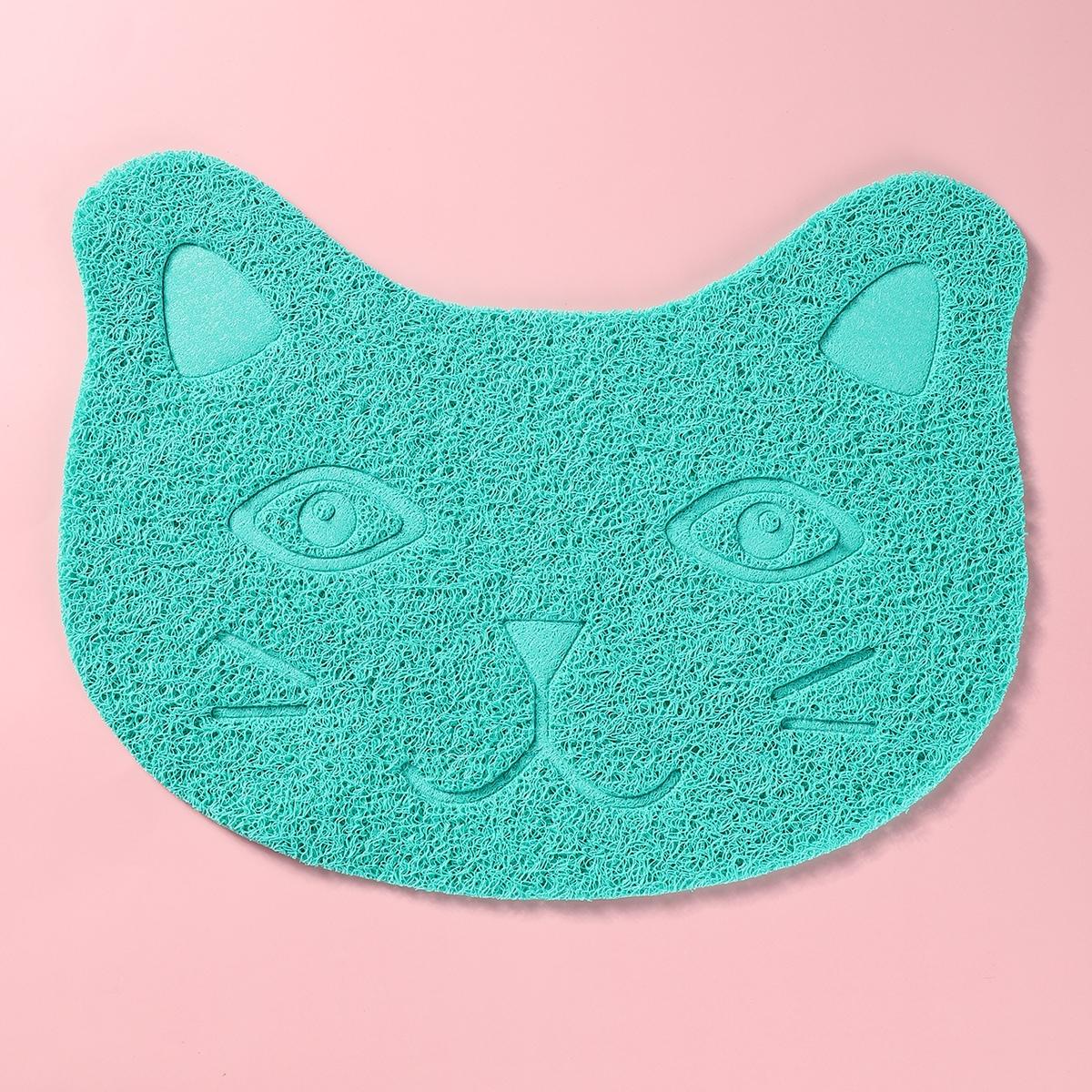 Коврик для кошачьего туалета с мультипликационным рисунком