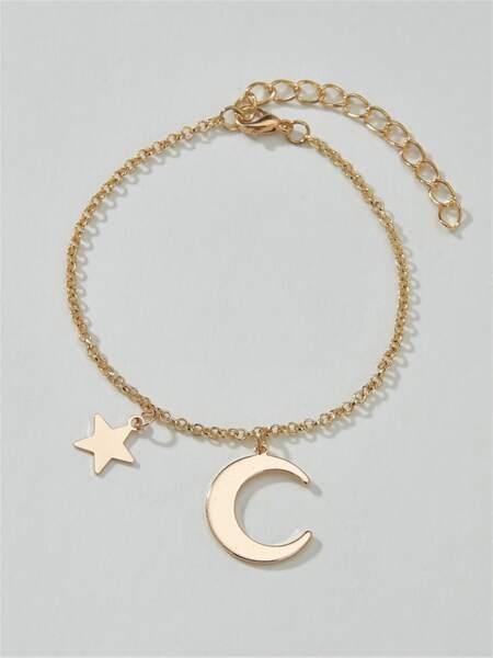 Moon & Star Decor Bracelet