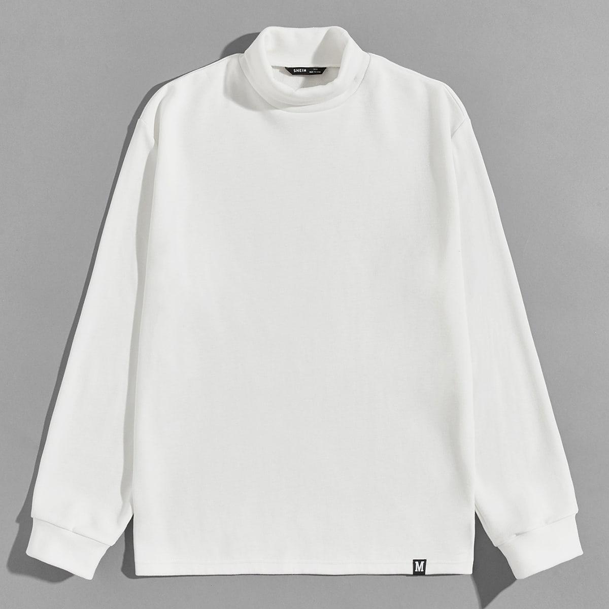 Мужской пуловер с текстовой заплатой от SHEIN
