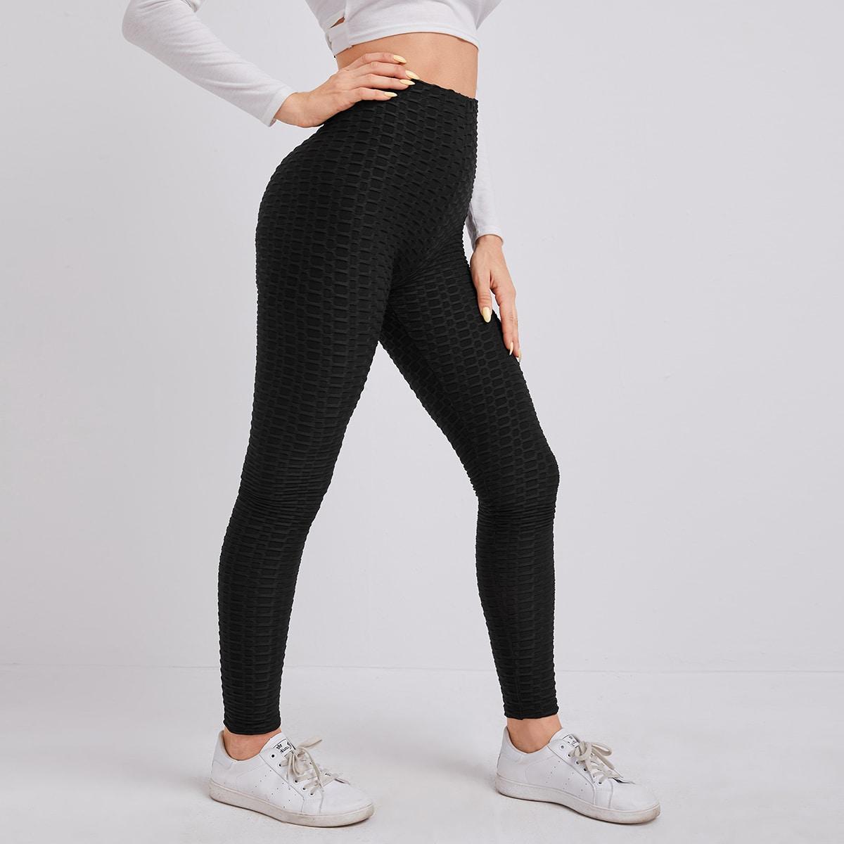 SHEIN / Texturierte Leggings mit hoher Taille