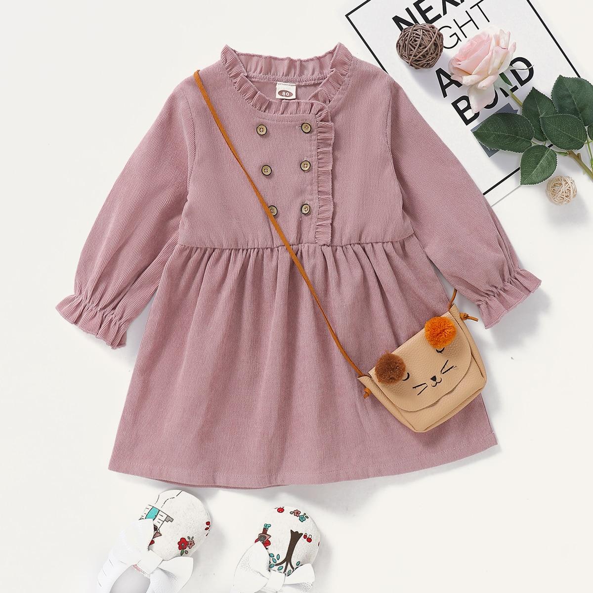 shein Casual Vlak Baby-jurk Rimpeling