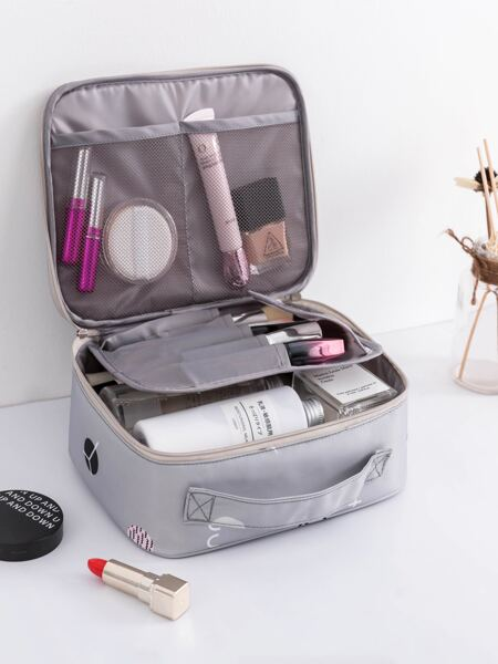 Geometric Pattern Travel Storage Bag