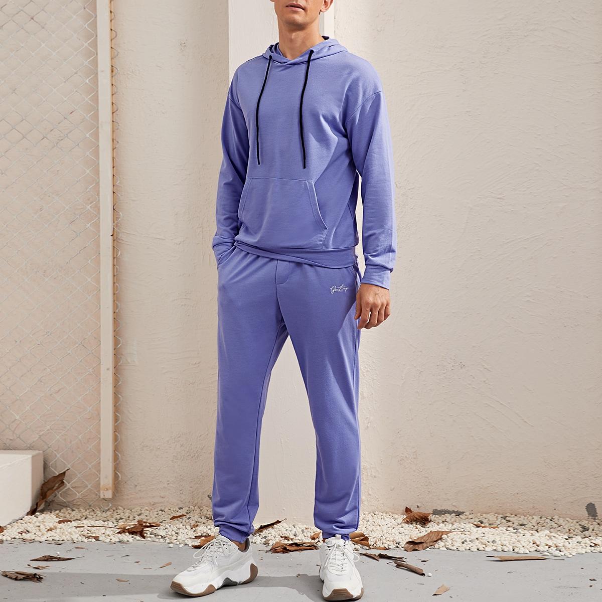Мужская толстовка и спортивные брюки с текстовой