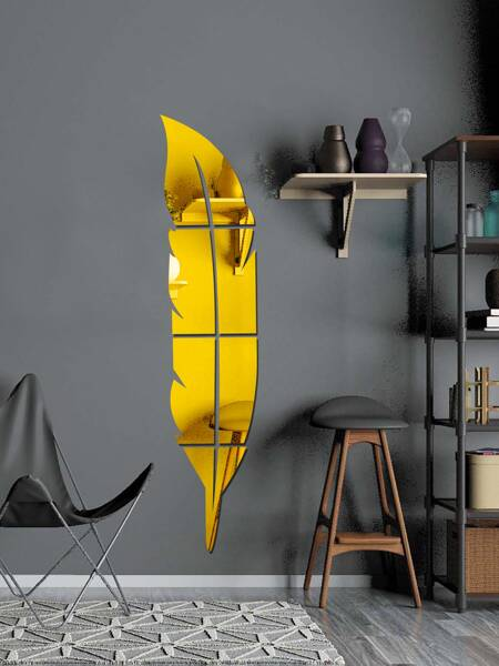 1set Feather Mirror Surface Wall Sticker