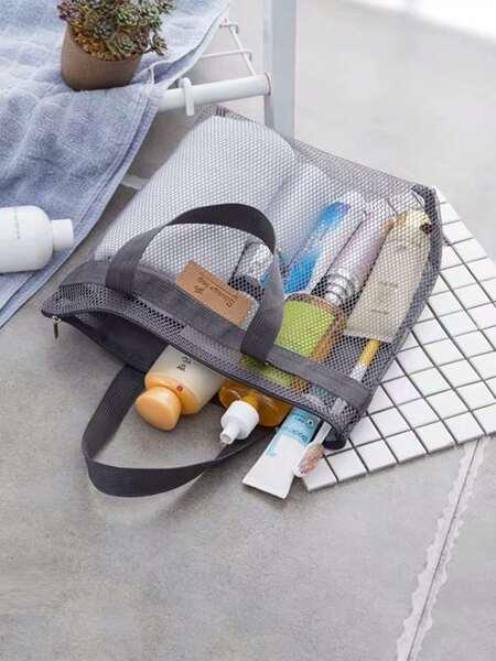 1pc Portable Mesh Storage Bag