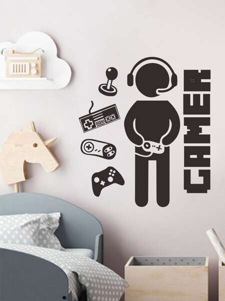 Gamer Graphic Wall Sticker - 1 Sheet