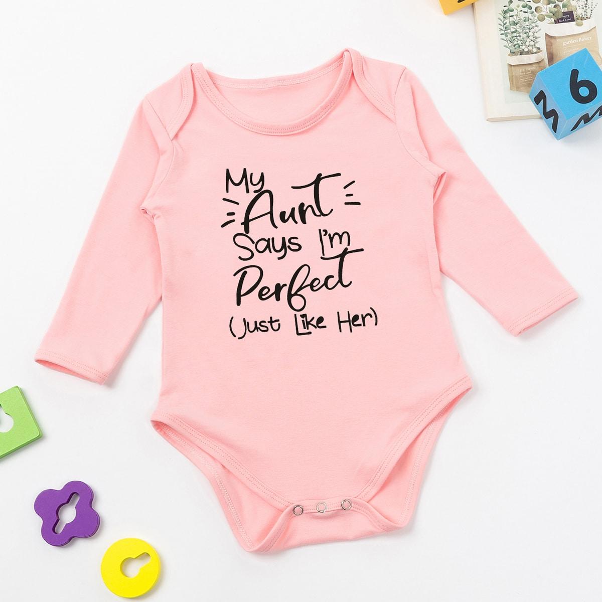 Лозунг Повседневный Боди для малышей от SHEIN