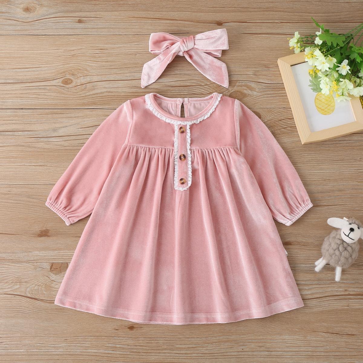 shein Schattig Baby-jurk Knoop
