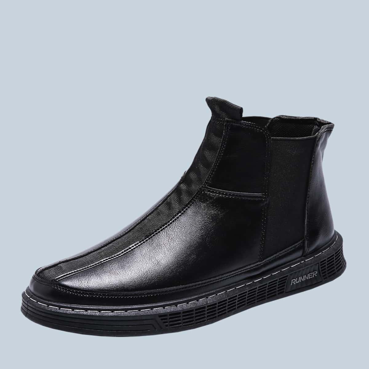 SHEIN / Männer minimalistischer Chelsea Stiefel