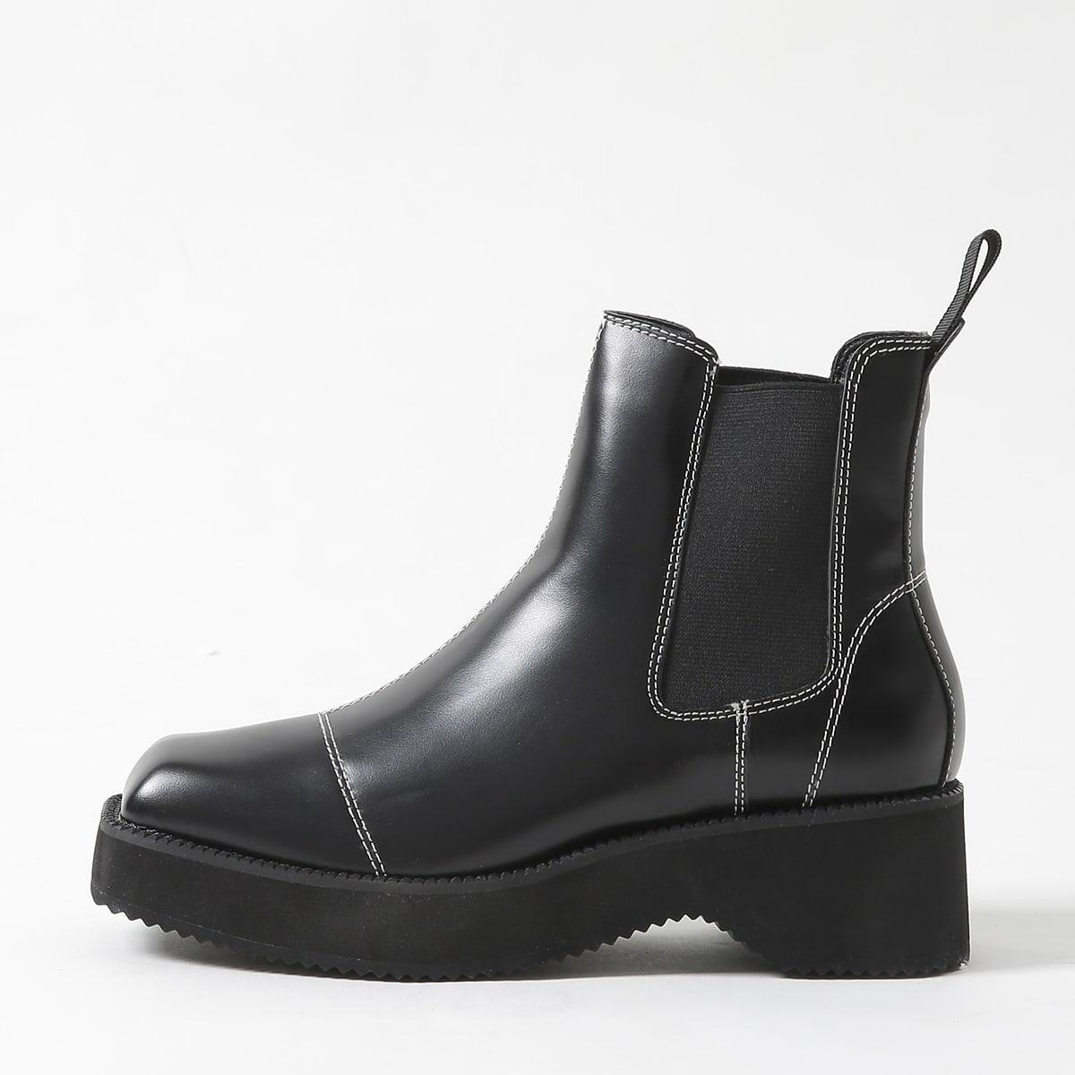 SHEIN / Chelsea Stiefel mit quadratischer Zehenpartie und Stich Detail