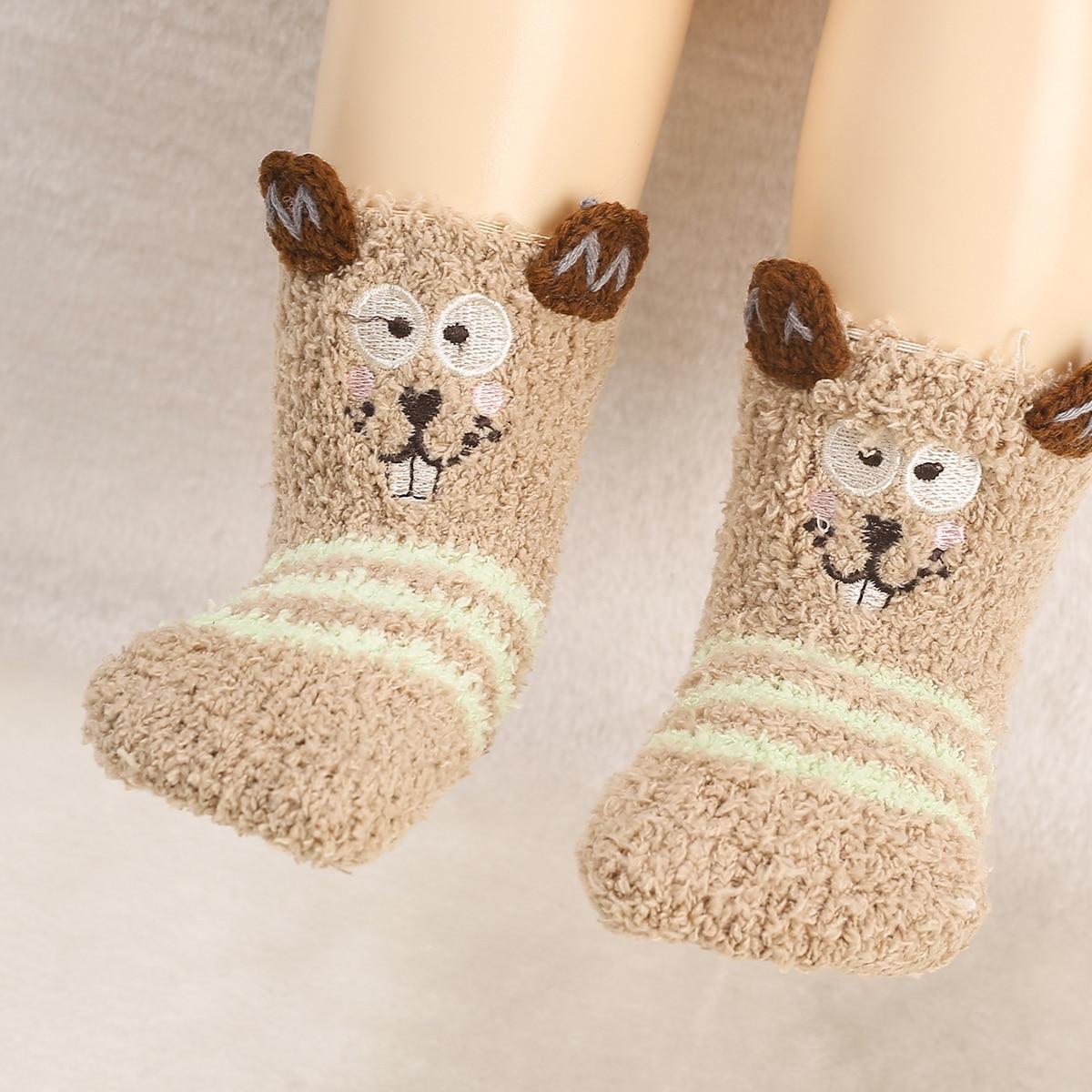 1 пара детские плюшевые носки