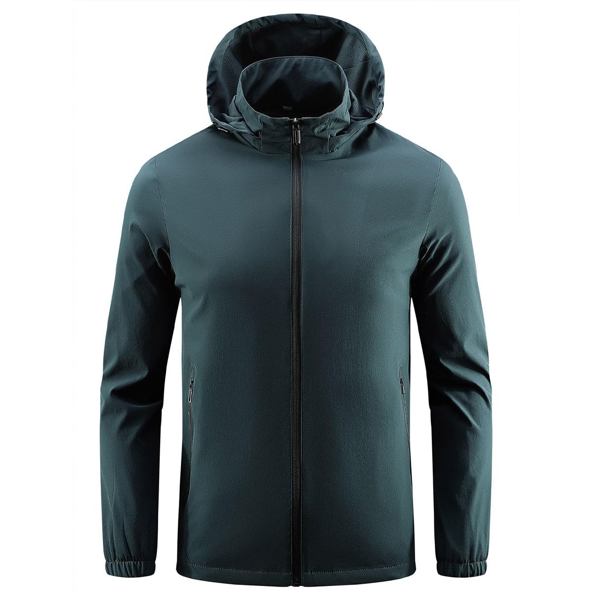 Мужская спортивная куртка с капюшоном и молнией