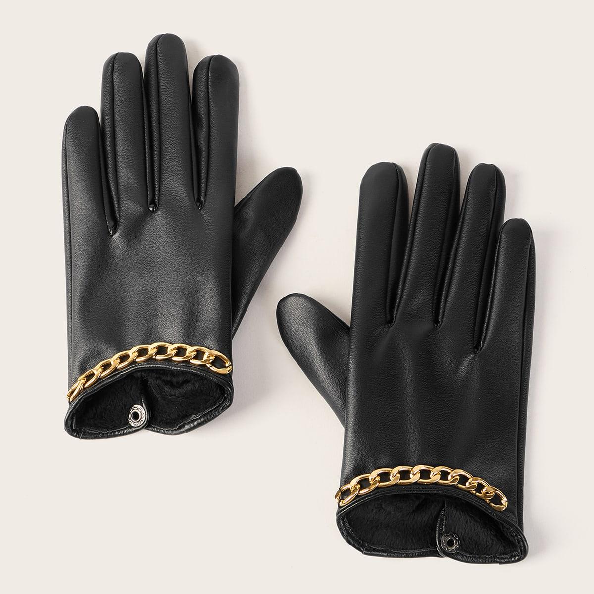 Перчатки с цепочкой