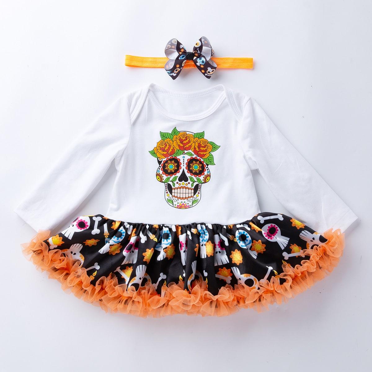 shein Schattig Halloween Baby-jurk Boog