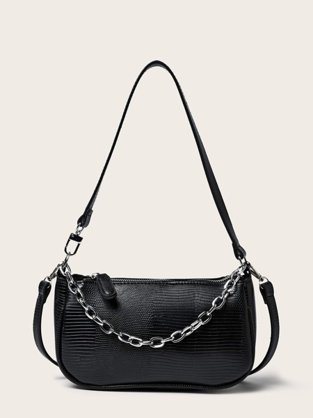 Textured Shoulder Bag